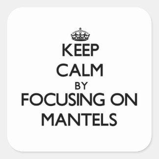 Mantenha a calma focalizando em cornijas de lareir