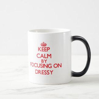 Mantenha a calma focalizando em Dressy Canecas