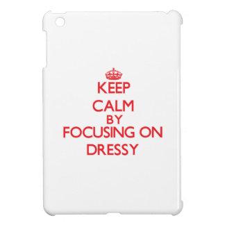 Mantenha a calma focalizando em Dressy Capa iPad Mini