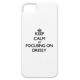 Mantenha a calma focalizando em Dressy Capa iPhone 5 Case-Mate