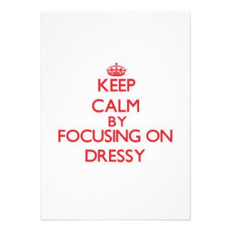 Mantenha a calma focalizando em Dressy Convites Personalizados