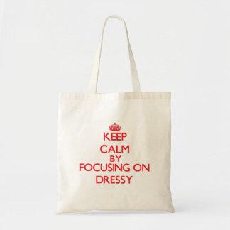 Mantenha a calma focalizando em Dressy Bolsa De Lona