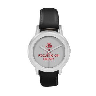 Mantenha a calma focalizando em Dressy Relógio De Pulso