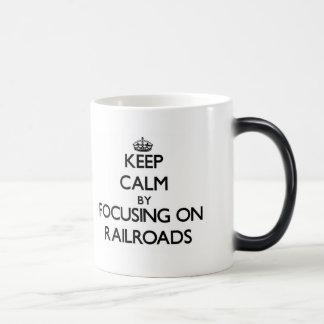 Mantenha a calma focalizando em estradas de ferro