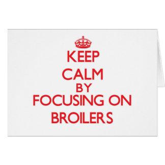 Mantenha a calma focalizando em grelhas cartoes