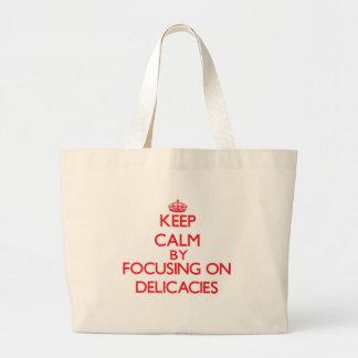 Mantenha a calma focalizando em guloseimas bolsa para compra