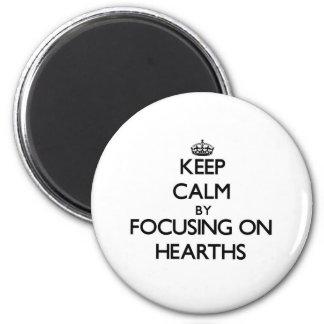 Mantenha a calma focalizando em lareiras imã