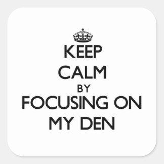 Mantenha a calma focalizando em meu antro