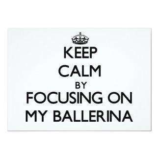 Mantenha a calma focalizando em minha bailarina convites