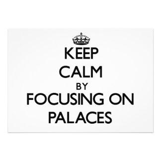Mantenha a calma focalizando em palácios convites