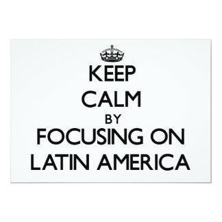 Mantenha a calma focalizando na América Latina Convite Personalizado