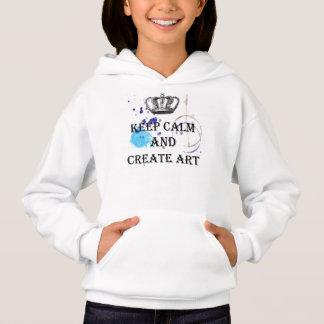Mantenha a calma para criar a arte, coroa, camisetas