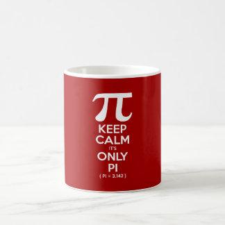 Mantenha a calma que é somente Pi (Pi = 3,142) Caneca De Café