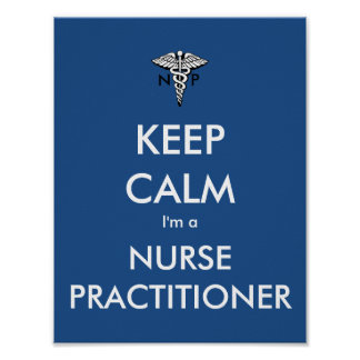 Mantenha a calma que eu sou um médico da pôster