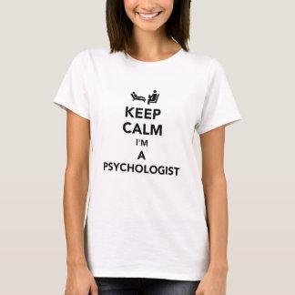 Mantenha a calma que eu sou um psicólogo tshirts