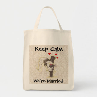 Mantenha a calma que nós somos saco Wedding casado Bolsa Para Compras