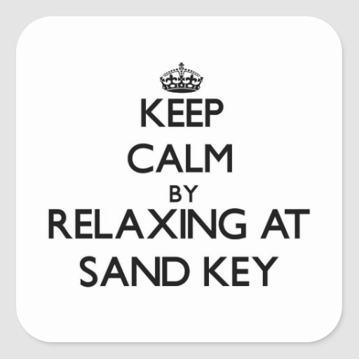 Mantenha a calma relaxando na chave Florida da Adesivos Quadrados