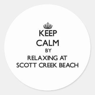 Mantenha a calma relaxando na praia Califor da ang