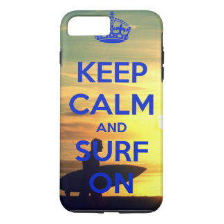 Mantenha a calma & surfe-a na capa de telefone