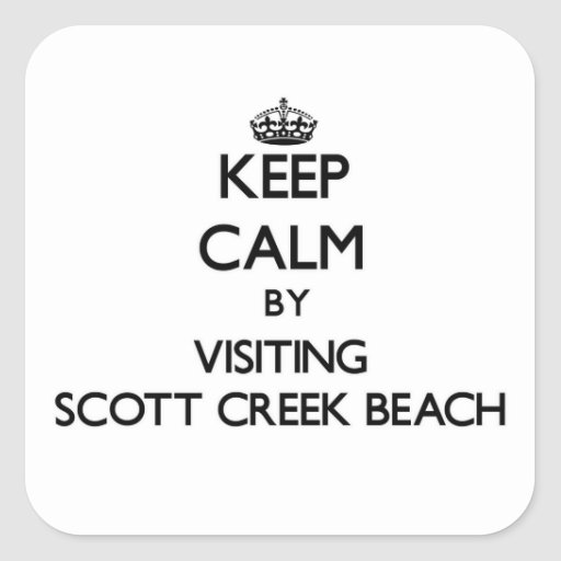 Mantenha a calma visitando a praia Califórnia da Adesivo Em Forma Quadrada