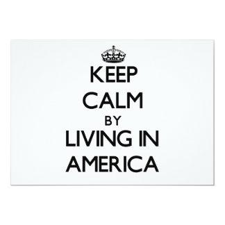 Mantenha a calma vivendo em América Convite