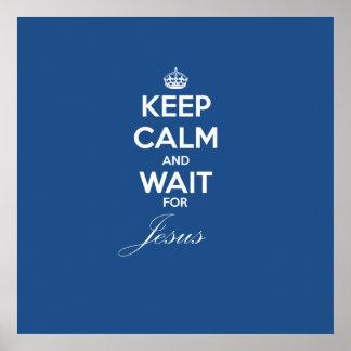 Mantenha a espera calma para Jesus Pôster