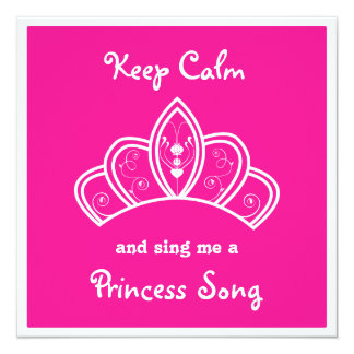 Mantenha a princesa cor-de-rosa calma Canção Convite