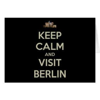 mantenha a visita calma Berlim Cartão Comemorativo