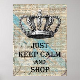 Mantenha abstrato calmo e da loja do vintage da impressão