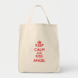 Mantenha anjo calmo e do beijo bolsa de lona