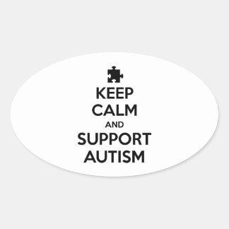 Mantenha autismo calmo e do apoio adesivo oval