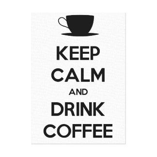 Mantenha café calmo e da bebida