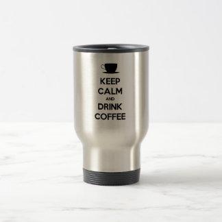 Mantenha café calmo e da bebida caneca
