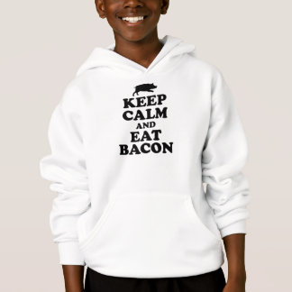 MANTENHA CALMO & COMA O HOODIE DO BACON T-SHIRT