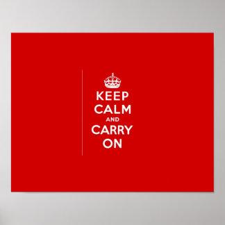 Mantenha calmo & continue o poster pôster