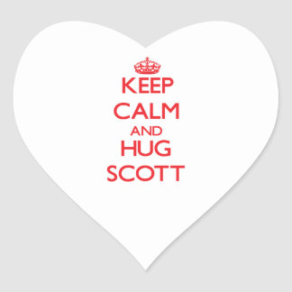 Mantenha calmo e abraço Scott Adesivo De Coração