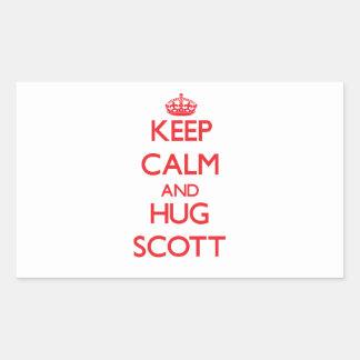 Mantenha calmo e ABRAÇO Scott Adesivo Em Formato Retângular