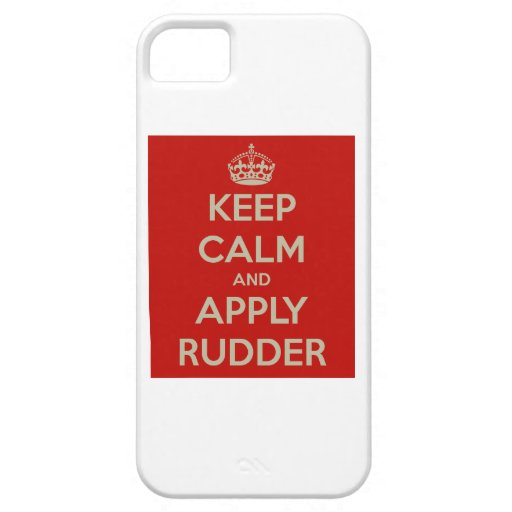 Mantenha calmo e aplique o leme iPhone 5 capas