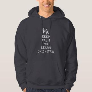 Mantenha calmo e aprenda Okichitaw Moleton Com Capuz