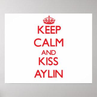 Mantenha calmo e beijo Aylin Pôsteres