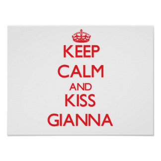 Mantenha calmo e beijo Gianna Poster
