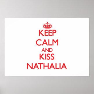 Mantenha calmo e beijo Nathalia