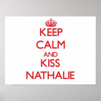 Mantenha calmo e beijo Nathalie