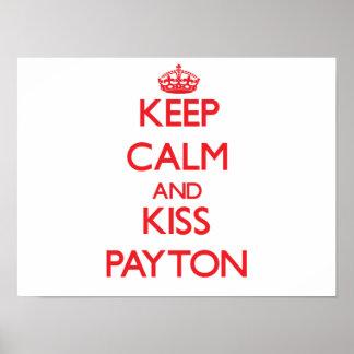Mantenha calmo e beijo Payton