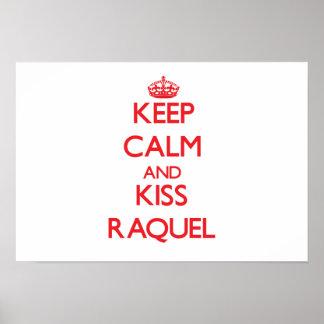 Mantenha calmo e beijo Raquel