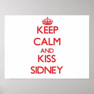 Mantenha calmo e beijo Sidney