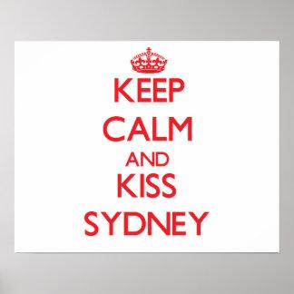 Mantenha calmo e beijo Sydney