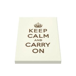 Mantenha calmo e continue o chocolate na baunilha