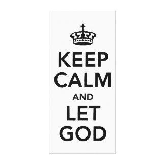 Mantenha calmo e deixe o deus