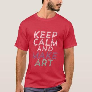 Mantenha calmo e faça o t-shirt do pintor do